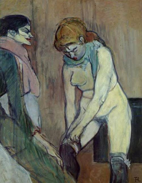Woman Pulling up Her Stockings 1894 | Henri Toulouse Lautrec | Oil Painting
