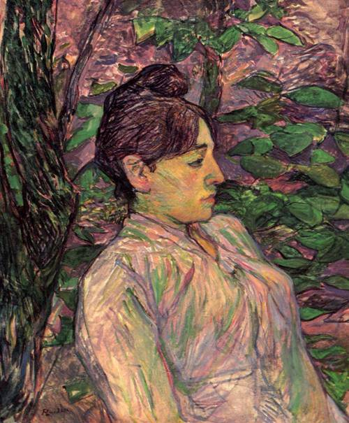 Woman Seated in a Garden 1891 | Henri Toulouse Lautrec | Oil Painting