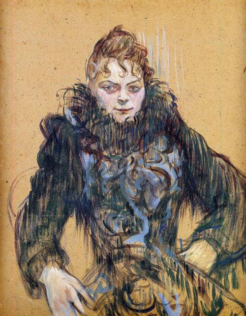 Woman with a Black Boa 1892 | Henri Toulouse Lautrec | Oil Painting