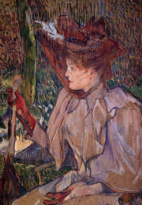 Woman with Gloves (aka Honorine Platzer) 1890 | Henri Toulouse Lautrec | Oil Painting