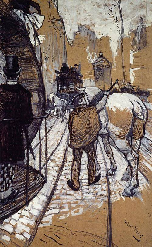 Workers for the Bus Company 1888 | Henri Toulouse Lautrec | Oil Painting