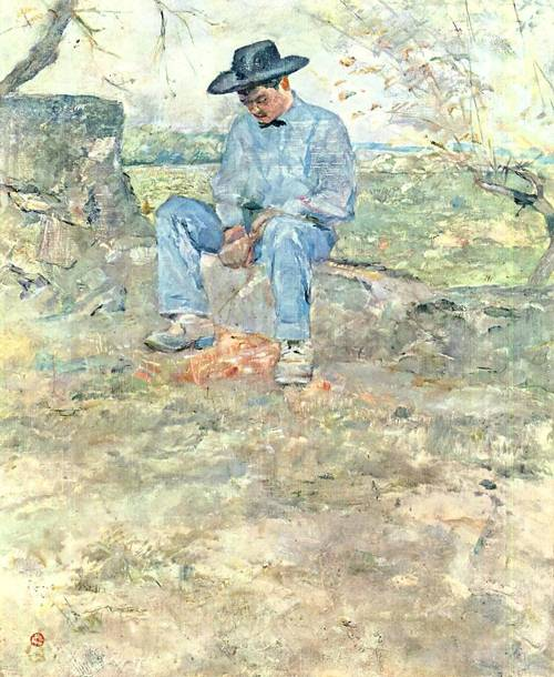 Young Routy at Celeyran 1882 | Henri Toulouse Lautrec | Oil Painting