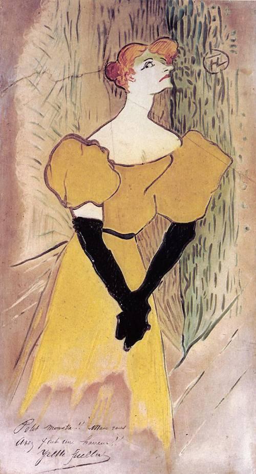 Yvette Guilbert 1895 | Henri Toulouse Lautrec | Oil Painting
