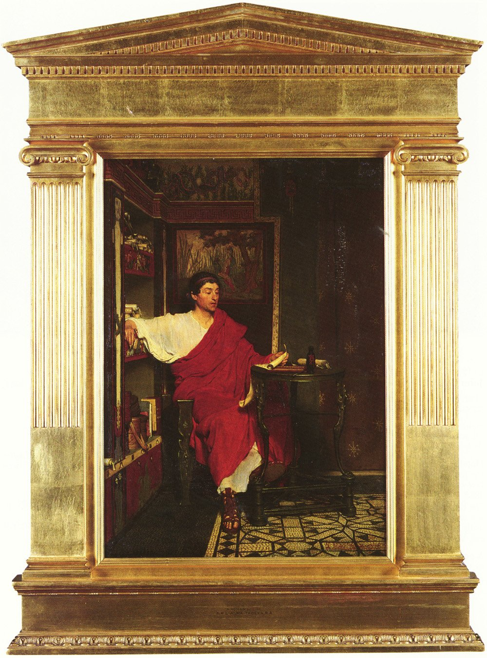 1836-1912 A Roman Scribe | Lawrence Alma-Tadema | Oil Painting