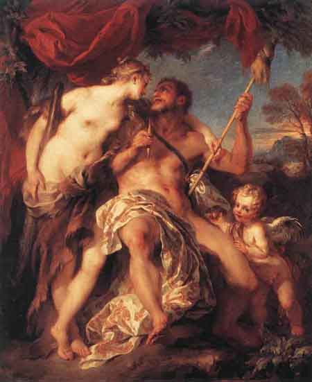 Hercules and Omphale 1724 | Francois Lemoyne | Oil Painting