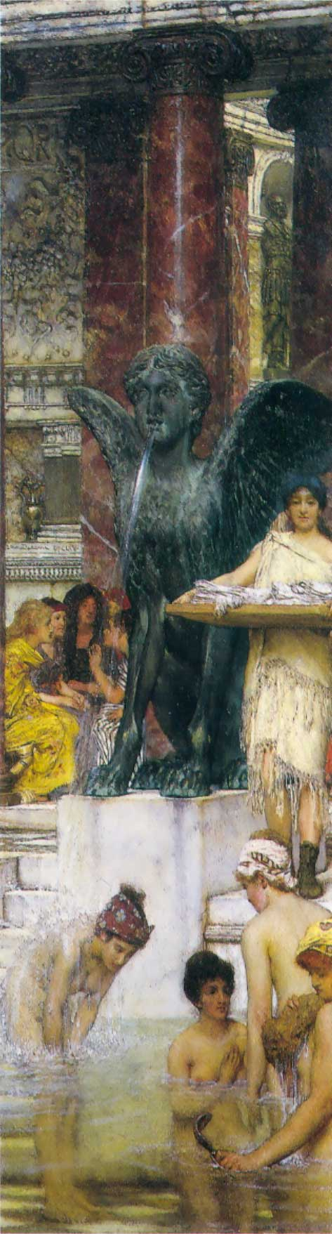 A Bath (An Antique Custom) | Lawrence Alma-Tadema | Oil Painting