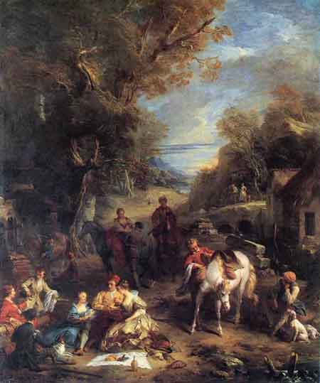 Hunting Picnic 1723 | Francois Lemoyne | Oil Painting