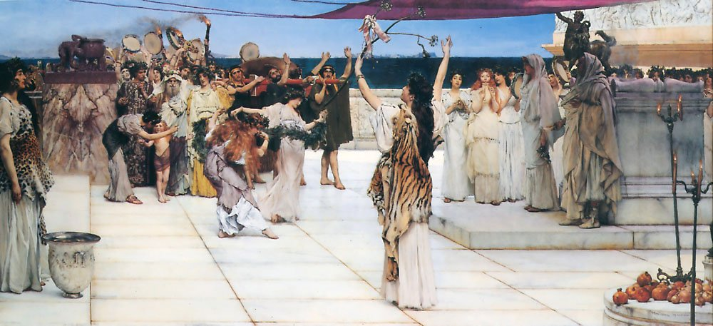 A Dedication To Bacchus | Lawrence Alma-Tadema | Oil Painting
