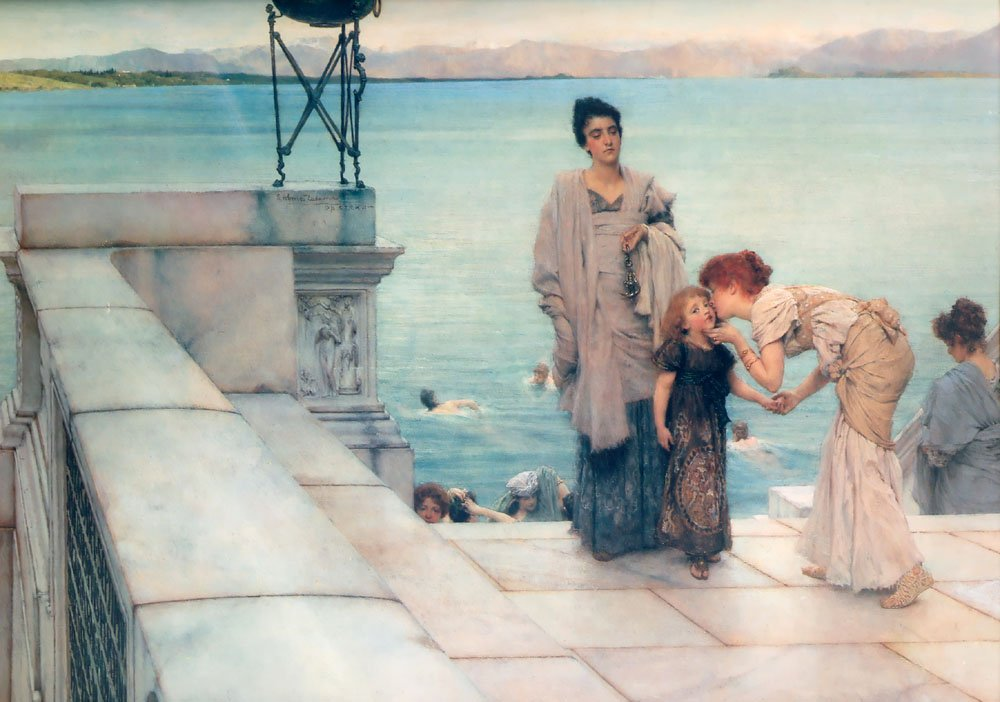 A Kiss | Lawrence Alma-Tadema | Oil Painting