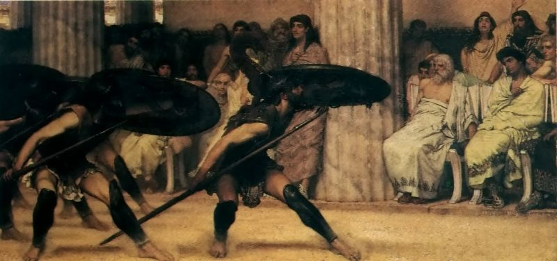 A Pyrrhic Dance | Lawrence Alma-Tadema | Oil Painting