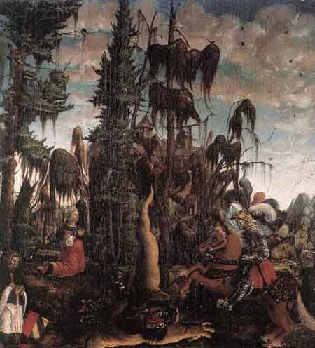 St George Freeing the Princess 1520 | Georg Lemberger | Oil Painting