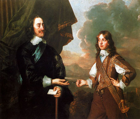 Charles I And The Duke Of York 1647 | Sir Peter Lely | Oil Painting