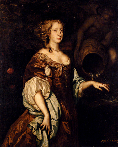 Portrait Of Diana Countess Of Ailesbury | Sir Peter Lely | Oil Painting