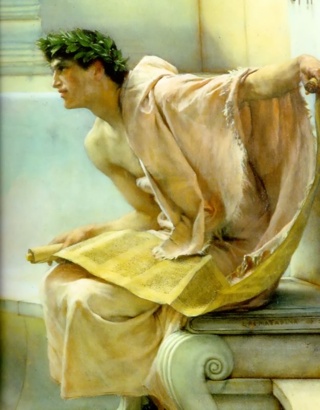 A Reading From Homer Detail | Lawrence Alma-Tadema | Oil Painting