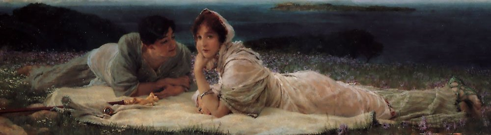 A World Of Their Own | Lawrence Alma-Tadema | Oil Painting