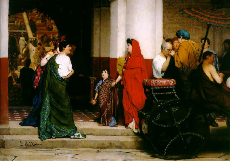 Entrance To A Roman Theatre | Lawrence Alma-Tadema | Oil Painting