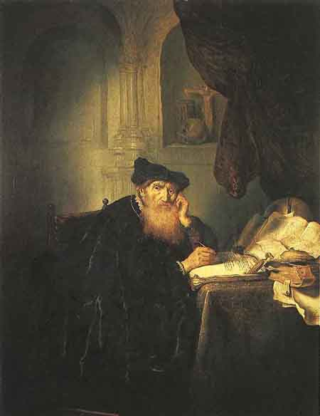 A Philosopher 1635 | Salomon Koninck | Oil Painting