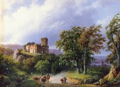 The Ruined Castle 1857 | Barend Cornelis Koekkoek | Oil Painting