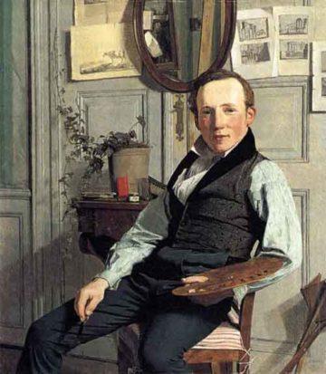 Portrait of Frederik S_dring 1832   Christen Kobke   Oil Painting