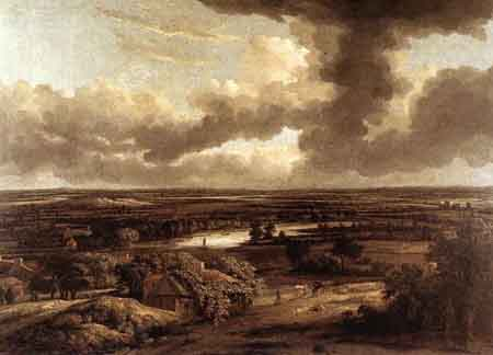 Dutch Landscape Viewed from the Dunes 1664 | Philips Koninck | Oil Painting
