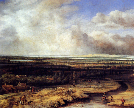 An Extensive Landscape with a Hawking Party | Philips Koninck | Oil Painting