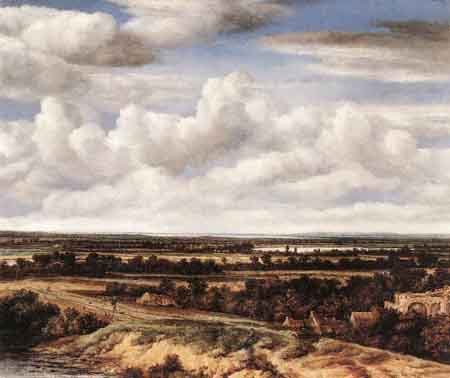 An Extensive Landscape with a Road by a Ruin 1655 | Philips Koninck | Oil Painting