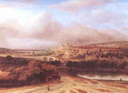 Village on a Hill 1651 | Philips Koninck | Oil Painting