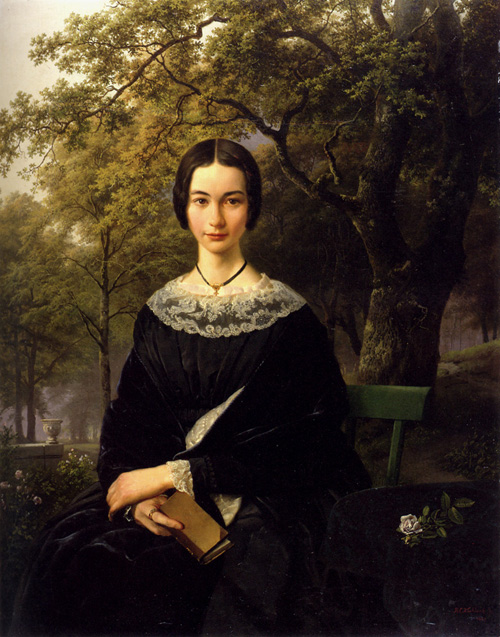 Portrait Of A Young Lady 1846 | Barend Cornelis Koekkoek | Oil Painting