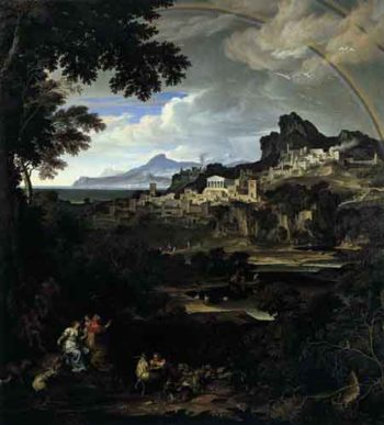 Heroic Landscape with Rainbow 1815 | Joseph Anton Koch | Oil Painting