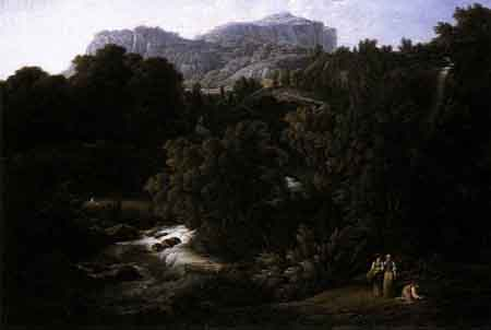 Mountain Scene 1796 | Joseph Anton Koch | Oil Painting
