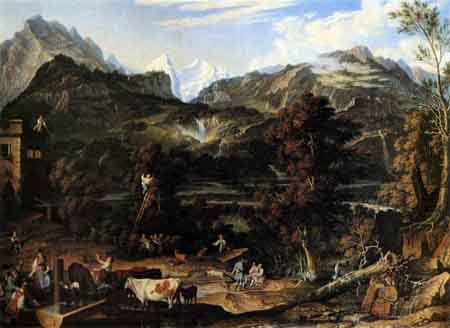 The Upland near Bern 1816 | Joseph Anton Koch | Oil Painting
