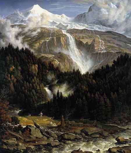 The Schmadribach Falls 1821 1822 | Joseph Anton Koch | Oil Painting