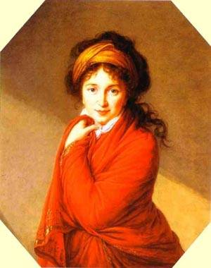 Portrait Of Countess Varvara Golovina 1800 | Louise Elisabeth Vigee Le Brun | Oil Painting