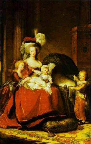 Portrait Of Queen Marie Antoinette With Children | Louise Elisabeth Vigee Le Brun | Oil Painting