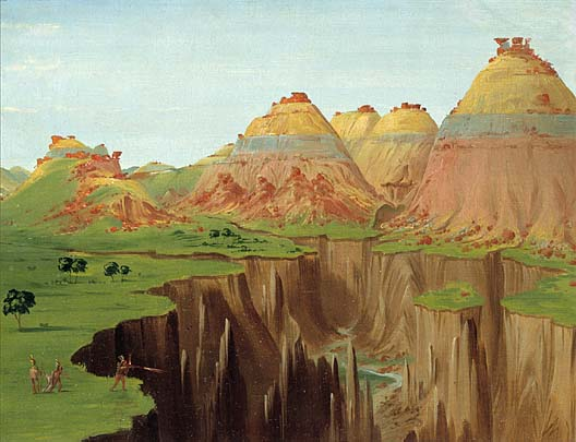 Brick Kilns Clay Bluffs 1900 Miles above St Louis 1832 | George Catlin | Oil Painting