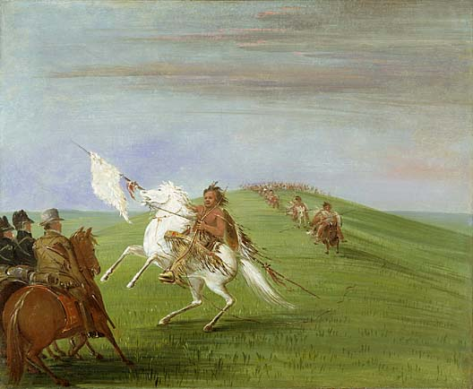 Comanche Meeting the Dragoons 1834 1835 | George Catlin | Oil Painting