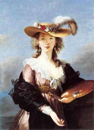 Self Portrait In A Straw Hat 1780s | Louise Elisabeth Vigee Le Brun | Oil Painting