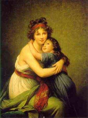 Self Portrait With Daughter 2 | Louise Elisabeth Vigee Le Brun | Oil Painting