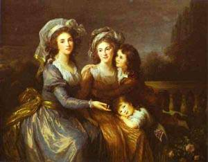 The Marquise De Peze And The Marquise De Rouget With Her Two Children 1787 | Louise Elisabeth Vigee Le Brun | Oil Painting