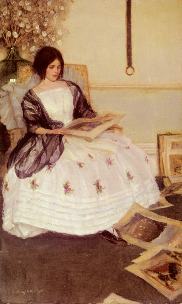 Japanese Prints Or The Portfolio | Leonard Campbell Taylor | Oil Painting