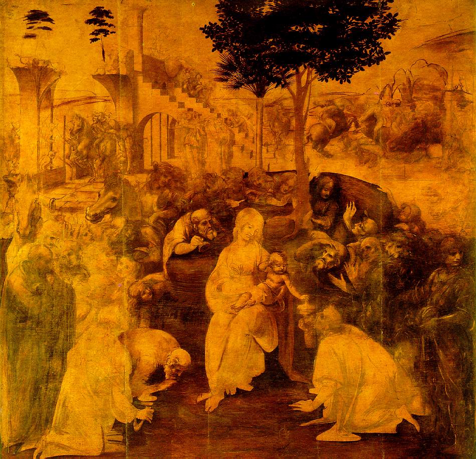 Adoration of the Magi | Leonardo Da Vinci | Oil Painting