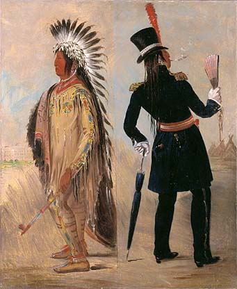 Pigeon's Egg Head The Light Going to and Returning from Washington 1837 1839 | George Catlin | Oil Painting