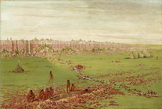 Pipestone Quarry on the Coteau des Prairies 1836 1837 | George Catlin | Oil Painting