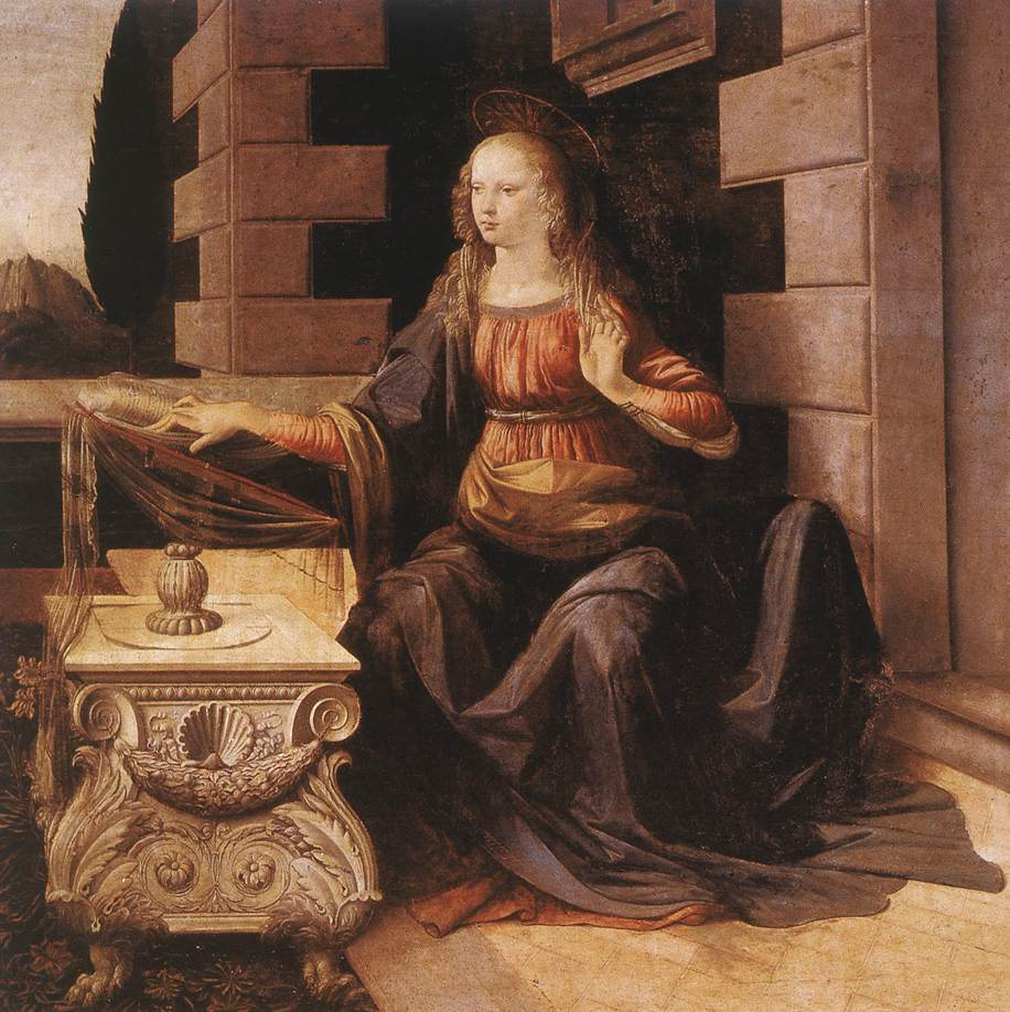 Annunciation detail2 | Leonardo Da Vinci | Oil Painting