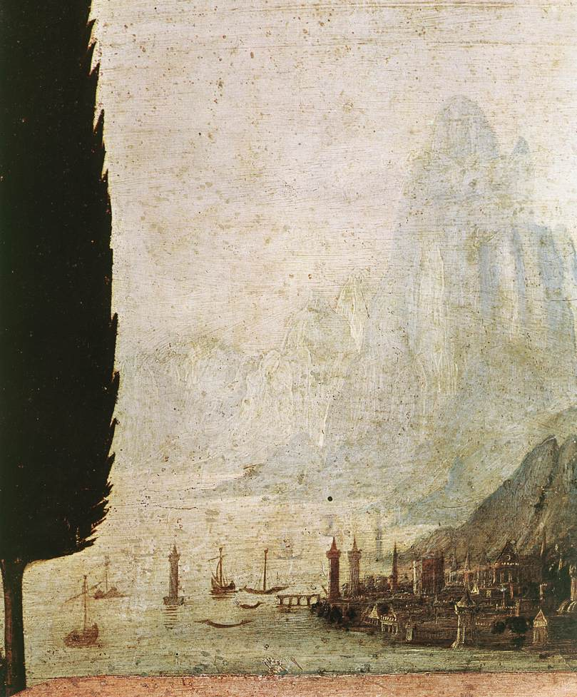 Annunciation detail4 | Leonardo Da Vinci | Oil Painting