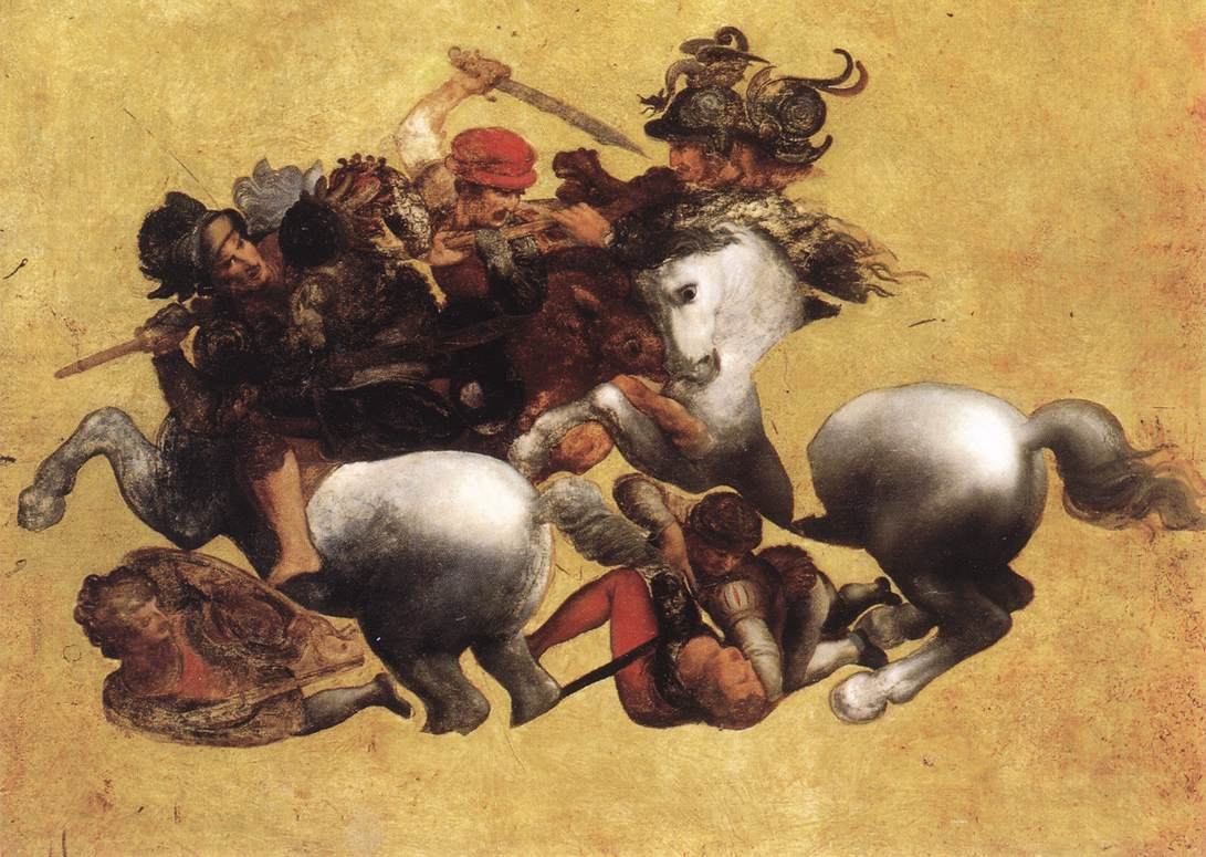 Battle of Anghiari (Tavola Doria) | Leonardo Da Vinci | Oil Painting