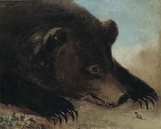 Portraits of Grizzly Bear and Mouse Life Size 1846 1848 | George Catlin | Oil Painting
