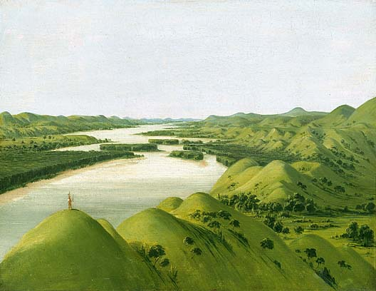 River Bluffs 1320 Miles above St Louis 1832 | George Catlin | Oil Painting