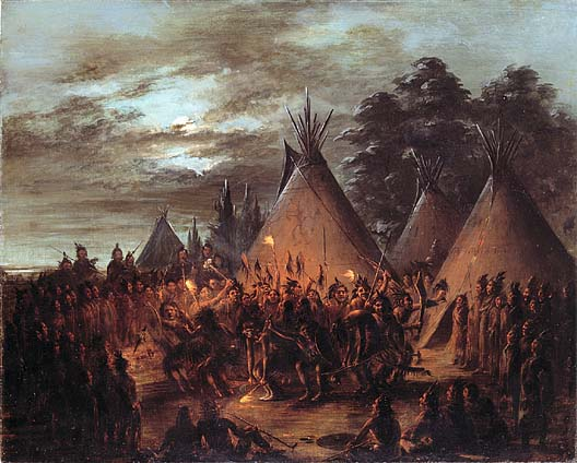 Scalp Dance Sioux 1845 1848 | George Catlin | Oil Painting