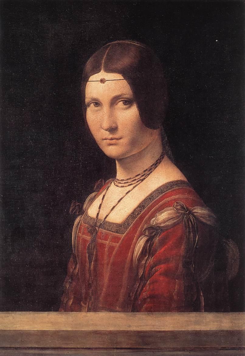 La belle Ferroniere | Leonardo Da Vinci | Oil Painting